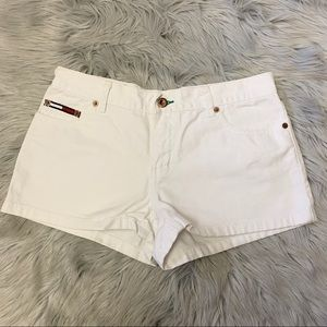 Tommy Hilfiger White Jean Shorts